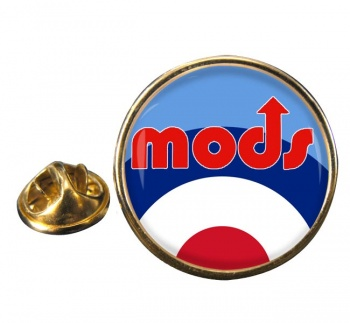 Mods Round Pin Badge