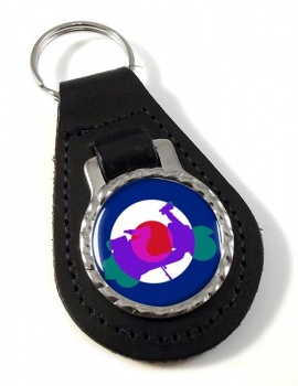 Mod Vespa Leather Keyfob