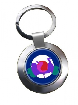 Mod Vespa Chrome Key Ring