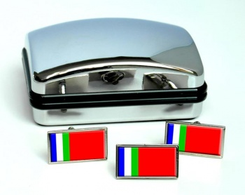 South Moluccas (Maluku) Flag Cufflink and Tie Pin Set