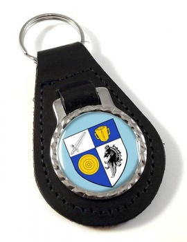 County Monaghan (Ireland) Leather Key Fob