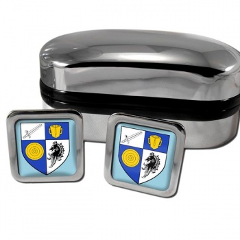 County Monaghan Ireland Square Cufflinks