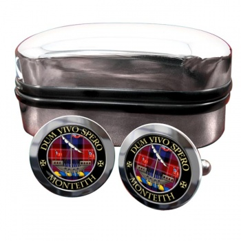 Monteith Scottish Clan Round Cufflinks