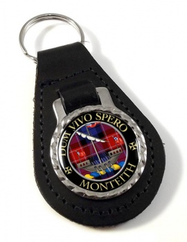 Monteith Scottish Clan Leather Key Fob