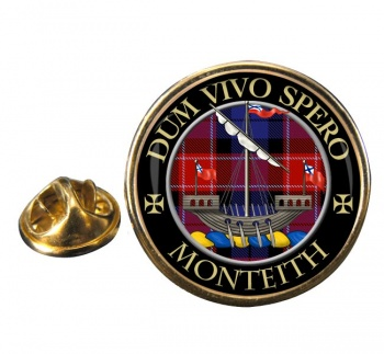 Monteith Scottish Clan Round Pin Badge