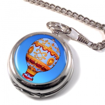 Montgolfier Hot Air Balloon Pocket Watch