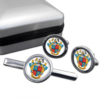 Montgomery County MD  Round Cufflink and Tie Clip Set