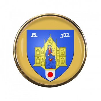 Montpellier (France) Round Pin Badge