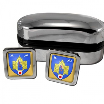 Montpellier France Square Cufflinks