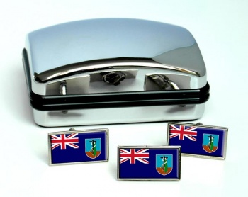 Montserrat Flag Cufflink and Tie Pin Set