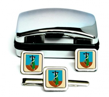 Montserrat Square Cufflink and Tie Clip Set