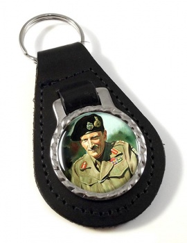 Field Marshal Bernard Law Montgomery Leather Key Fob