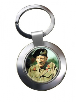 Field Marshal Bernard Law Montgomery Chrome Key Ring