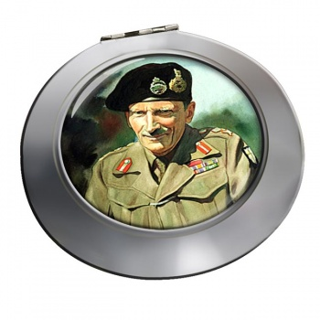 Field Marshal Bernard Law Montgomery Chrome Mirror