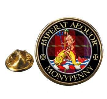 Monypenny Scottish Clan Round Pin Badge