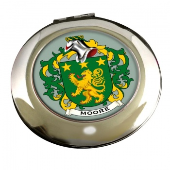 Moore Irish Coat of Arms Chrome Mirror