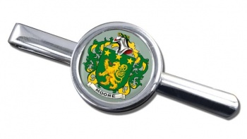 Moore Irish Coat of Arms Round Tie Clip