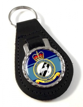 RAF Station Moreton in Marsh Leather Key Fob