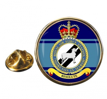 RAF Station Moreton in Marsh Round Pin Badge