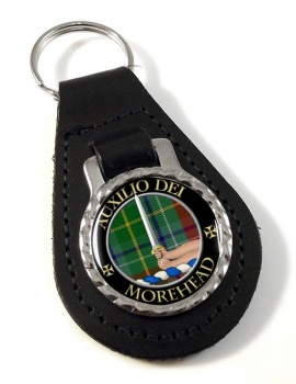Morehead Scottish Clan Leather Key Fob