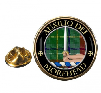 Morehead Scottish Clan Round Pin Badge