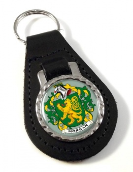 Morgan Coat of Arms Leather Key Fob