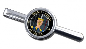 Morgan Scottish Clan Round Tie Clip