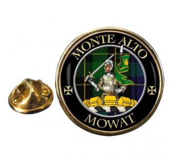 Mowat Scottish Clan Round Pin Badge