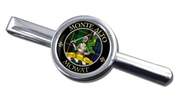 Mowat Scottish Clan Round Tie Clip
