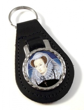 Mary Queen of Scots Leather Key Fob