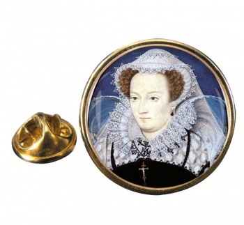 Mary Queen of Scots Round Pin Badge