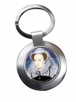 Mary Queen of Scots Chrome Key Ring