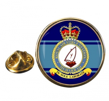 RAF Station Muharraq Round Pin Badge