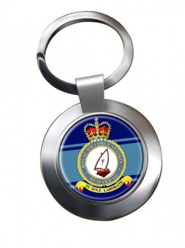 RAF Station Muharraq Chrome Key Ring