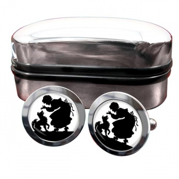 Mother Hubbard Round Cufflinks