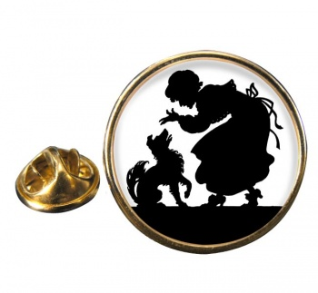 Mother Hubbard Round Pin Badge