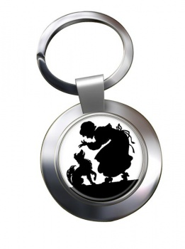 Mother Hubbard Chrome Key Ring