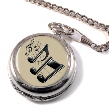 Music Notes Pocket Watch
