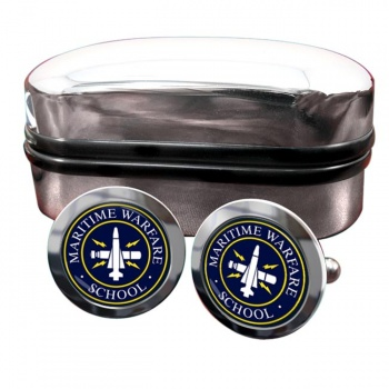 Maritime Warfare School (MWS) RN Round Cufflinks