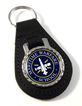 Maritime Warfare School (MWS) RN Leather Key Fob