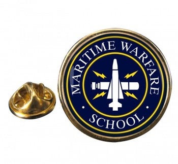 Maritime Warfare School (MWS) RN Round Pin Badge