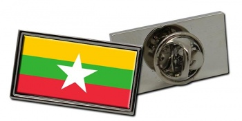Burma Myanmar Flag Pin Badge