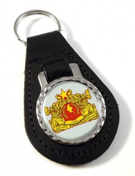 Burma Myanmar Leather Key Fob