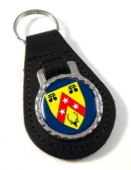 Nairnshire (Scotland) Leather Key Fob