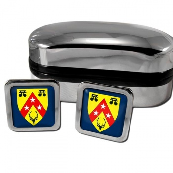 Nairnshire Scotland Square Cufflinks