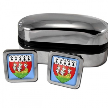 Nantes France Square Cufflinks