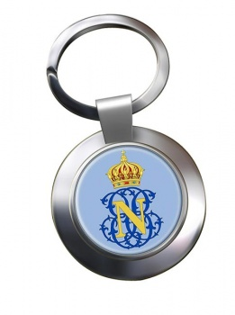 Monogram of Napoleon (France) Metal Key Ring