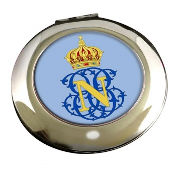 Monogram of Napoleon (France) Round Mirror