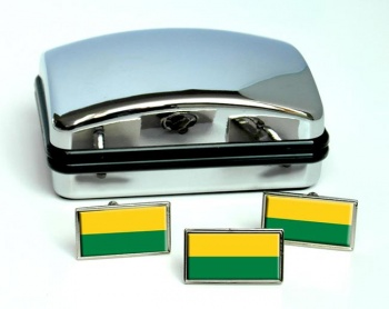Narino (Colombia) Flag Cufflink and Tie Pin Set