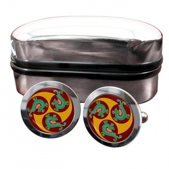 Native Art Round Cufflinks
